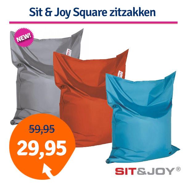 Sit Joy Zitzak 100 X 150.Dagaanbieding Sit Joy Square Zitzakken 100x150 Cm Dagelijkse