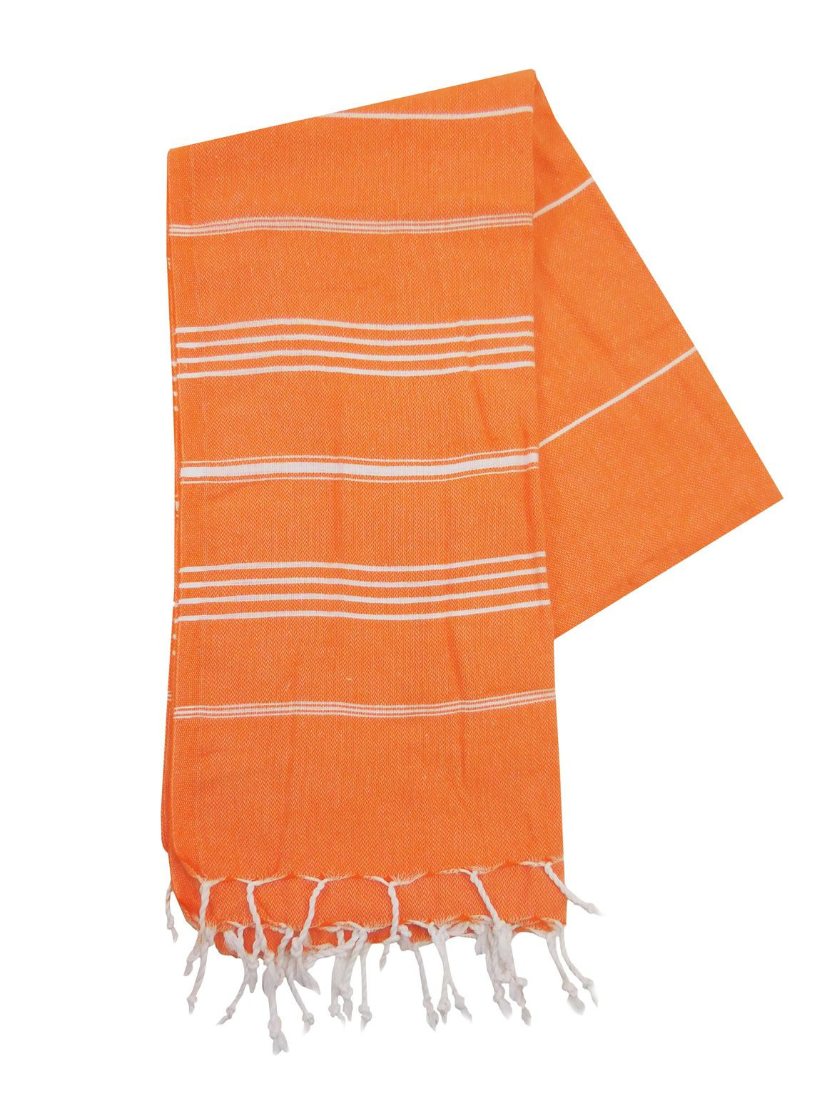 Een Dag Actie - The One Towelling Hamamdoek Oranje/Wit