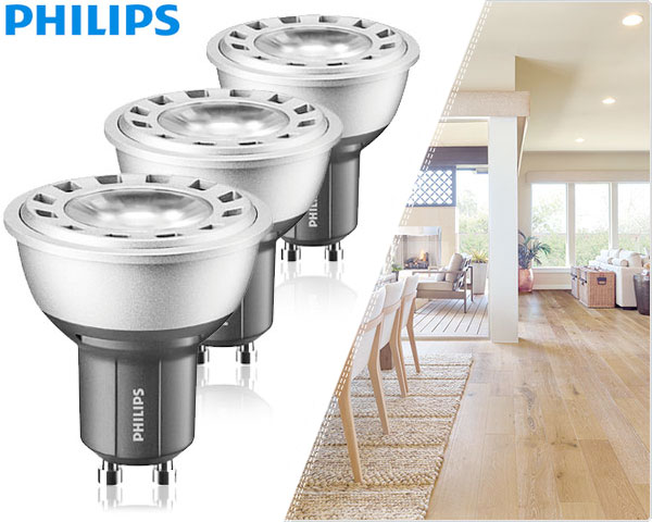 1 Day Fly - 3-​Pack Philips Master Led Dimbare Gu10 Spots