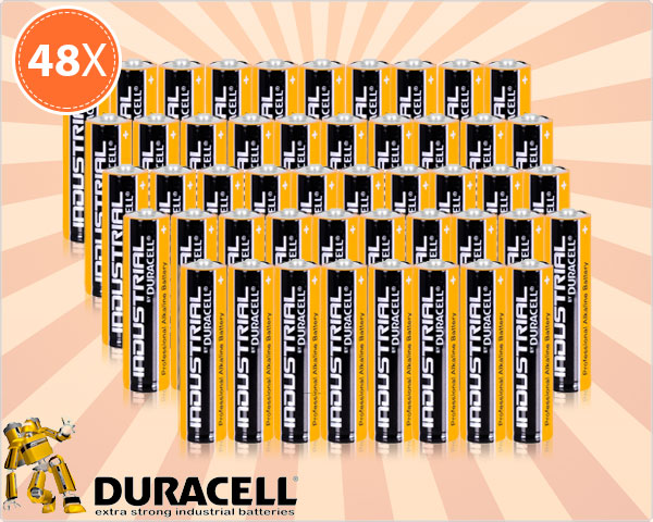 1 Day Fly - 48 Duracell Industrial Batterijen