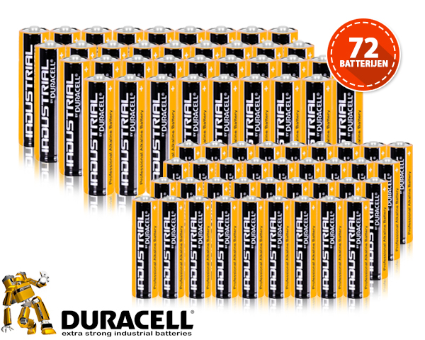 1 Day Fly - 72 X Duracell Industrial Batterijen