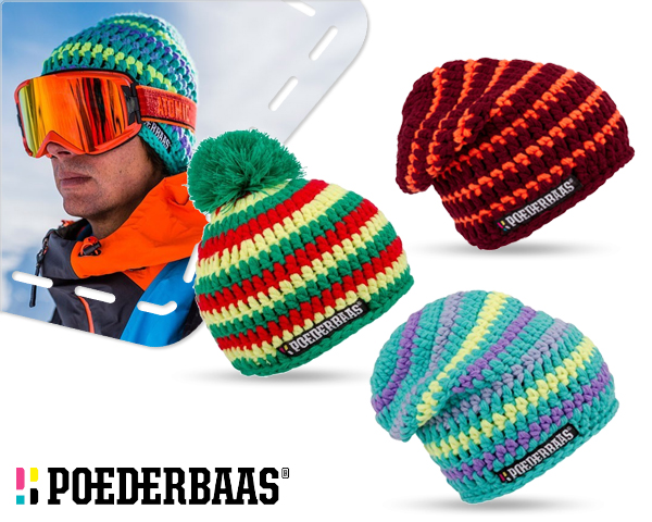 1 Day Fly - Poederbaas Gehaakte Wollen Beanies