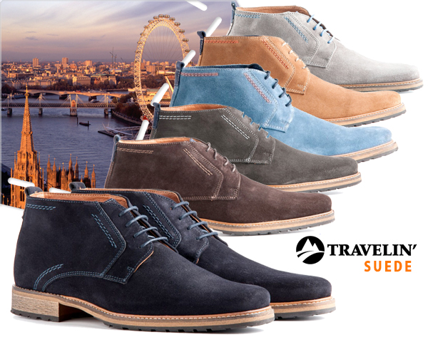 1 Day Fly - Travelin' London Suede Of Leren Schoenen