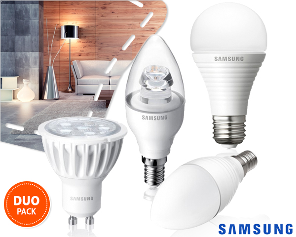 1 Day Fly - Twee Warmwitte Samsung Led Lampen