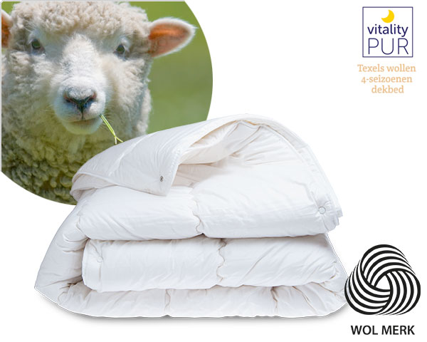 1 Day Fly - Vitality-​Pur Texels Wollen 4-​Seizoenendekbed