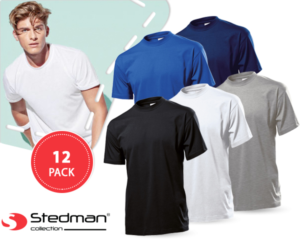 1 Day Fly Lady - 12-​Pack Stedman Basic T-​Shirts