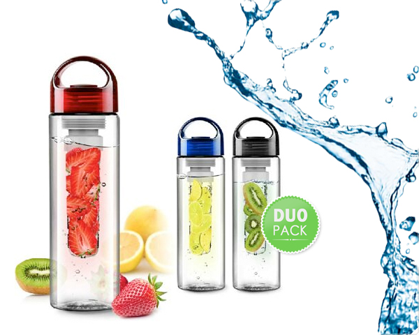 1 Day Fly Lady - 2-​Pack Fruit Infuser Waterflessen