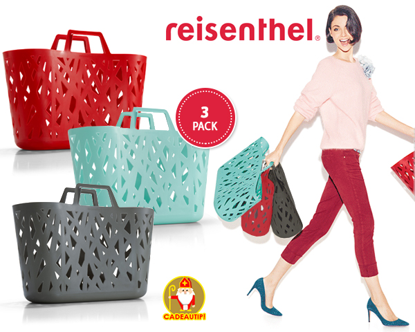 1 Day Fly Lady - 3 Stuks Trendy Reisenthel Shoppingtassen