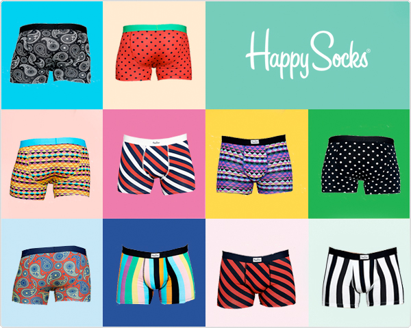 1 Day Fly Lady - 4-​Pack Happy Socks Boxershorts