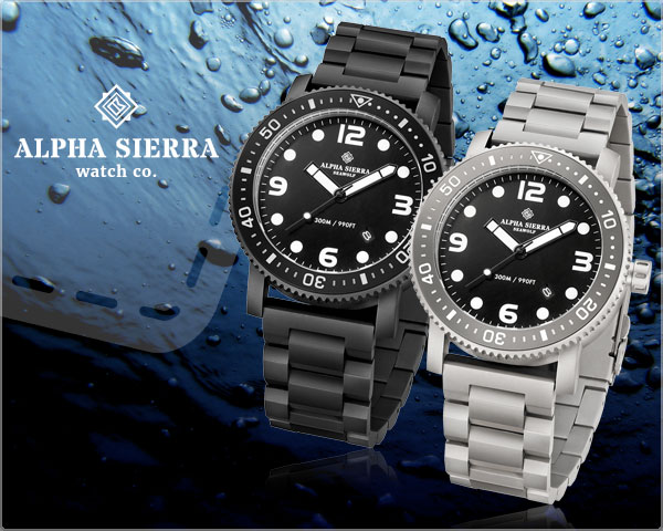 1 Day Fly Lady - Alpha Sierra Seawolf Herenhorloge