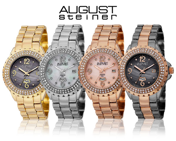 1 Day Fly Lady - August Steiner Dameshorloge In 4 Kleuren