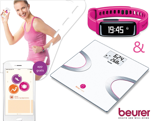 1 Day Fly Lady - Beurer Bodyshape Activity Tracker + Weegschaal