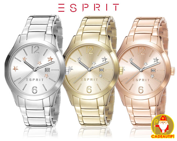 1 Day Fly Lady - Esprit Dameshorloge In 3 Verschillende Kleuren