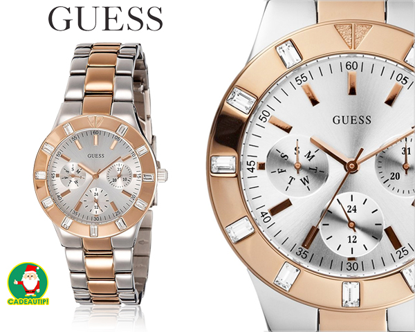 1 Day Fly Lady - Exclusief Guess Glisten Dameshorloge