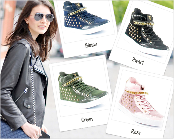 1 Day Fly Lady - Glitz&Glam Sneaker Met Studs