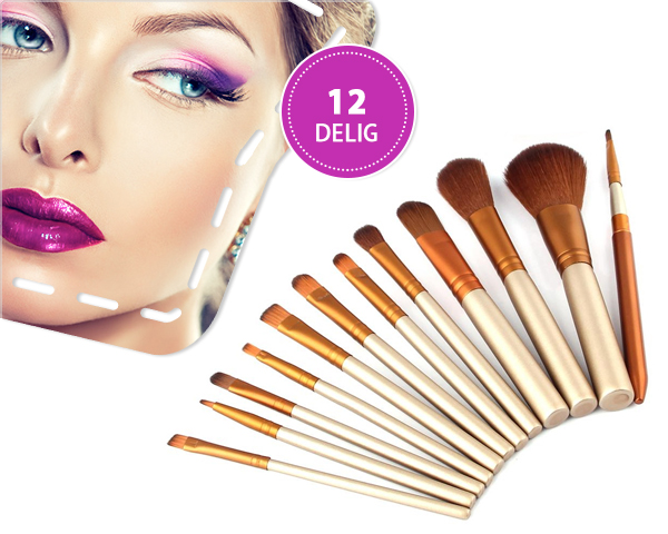 1 Day Fly Lady - Ideale 12-​Delige Make-​Up Kwastenset