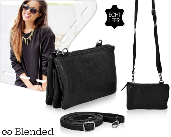 1 Day Fly Lady - Leren Blended Clutch Voor Dames