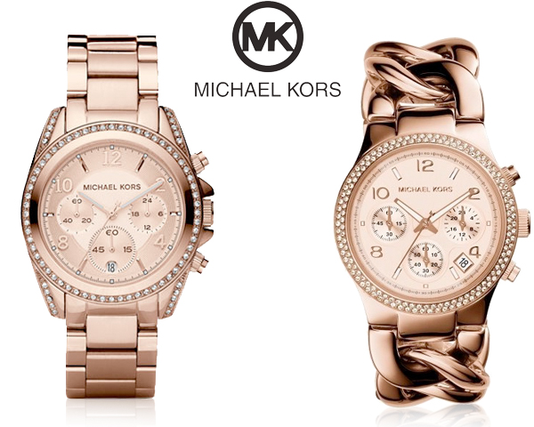 1 Day Fly Lady - Michael Kors Rosegouden Horloge