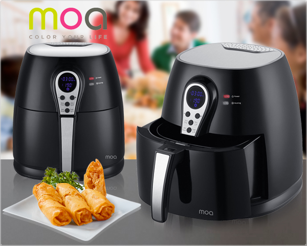 1 Day Fly Lady - Moa Airfryer Met Digitale Bediening En Display