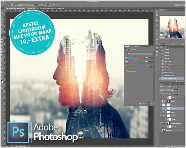 1 Day Fly Lady - Online Cursus Photoshop Cc 2018
