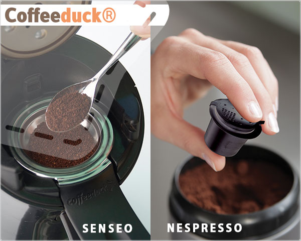 1 Day Fly Lady - Senseo En Nespresso Coffeeducks