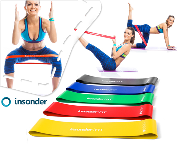 1 Day Fly Lady - Set Van 5 Fitness Weerstandsbanden