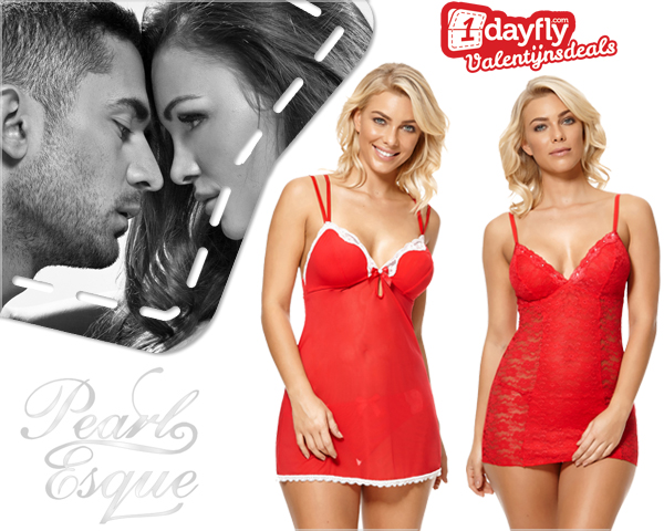 1 Day Fly Lady - Sexy Babydoll Met Kant Voor Valentijn