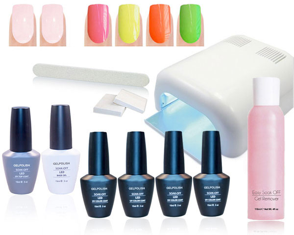 1 Day Fly Lady - Summer Gellak Nagel Set