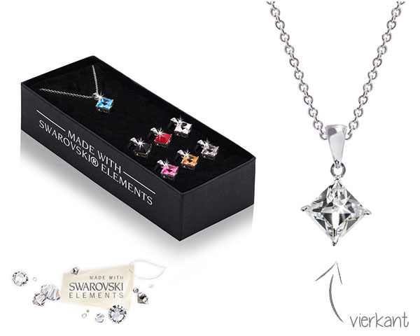 1 Day Fly Lady - Swarovski Elements Ketting Met 7 Hangers