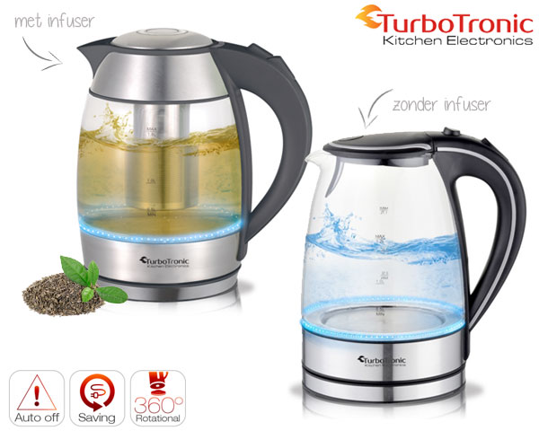 1 Day Fly Lady - Turbotronic Waterkoker Met Of Zonder Thee Infuser