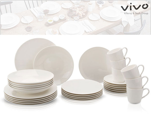 1 Day Fly Lady - Villeroy & Boch Vivo 30-​Delige Serviesset