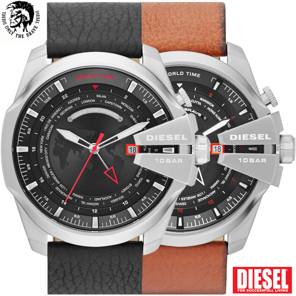 24 Deluxe - Diesel Mega Chief World Time Horloges