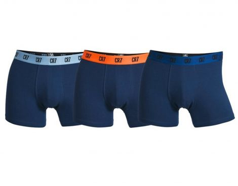 Avantisport - CR7 - Mens Basic Trunk 3 Pack - Blauwe Boxershorts