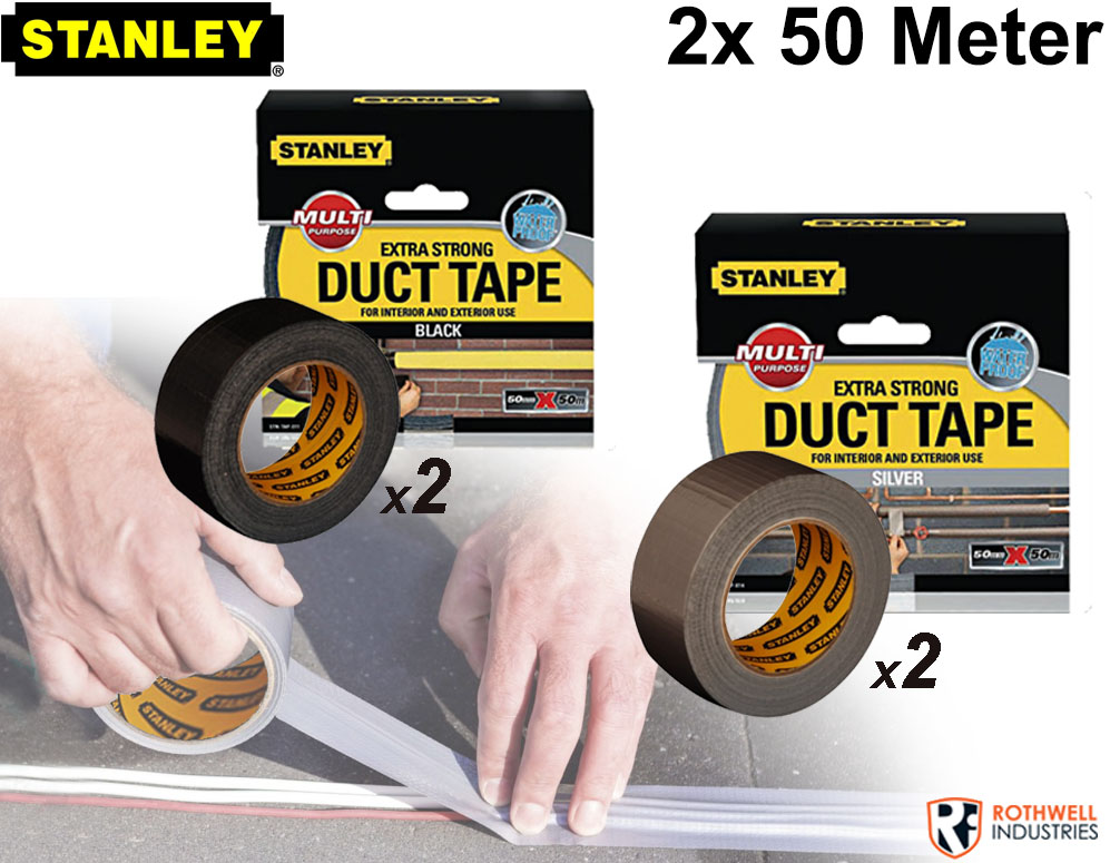 Click to Buy - 2 Rollen (100 meter) Stanley Duct Tape Extra strong