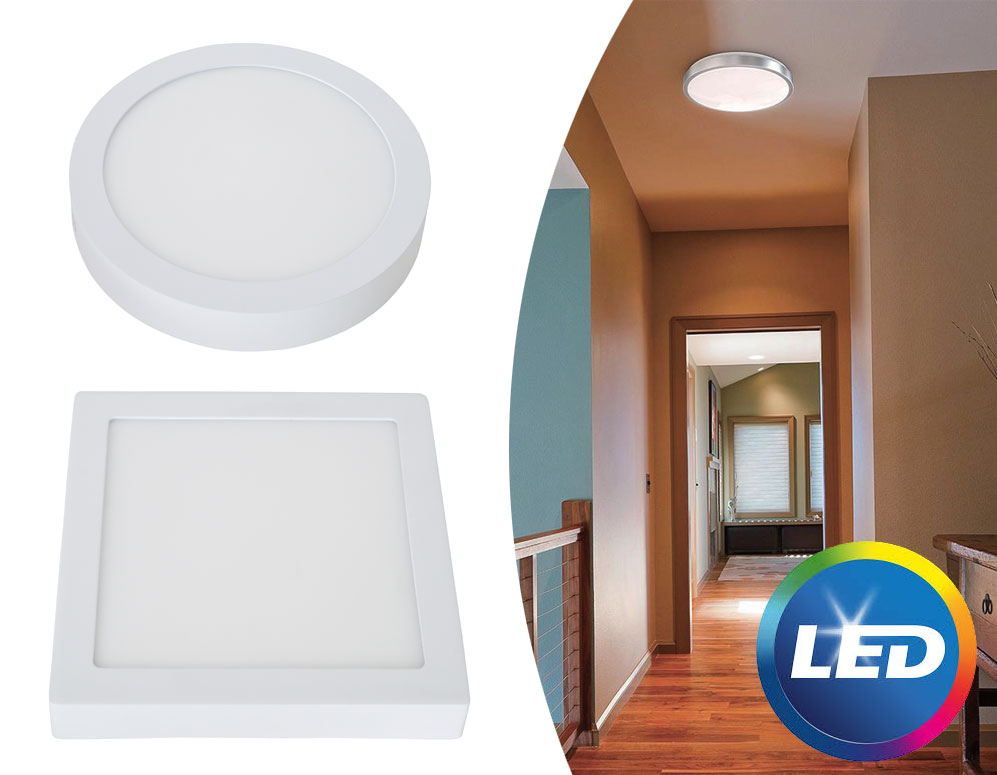 Click to Buy - Energiezuinige LED Plafondlamp (rond of vierkant)