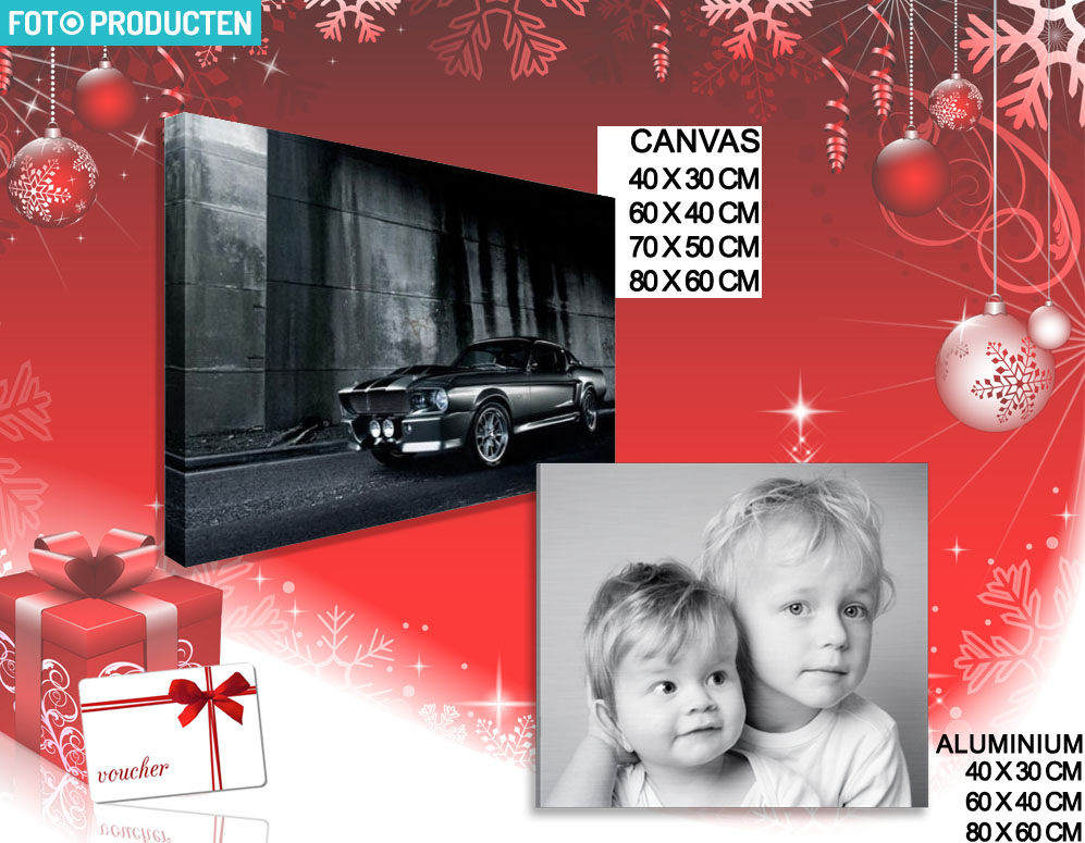 Click to Buy - Foto op Aluminium of Canvas - Kerst Cadeau Tip