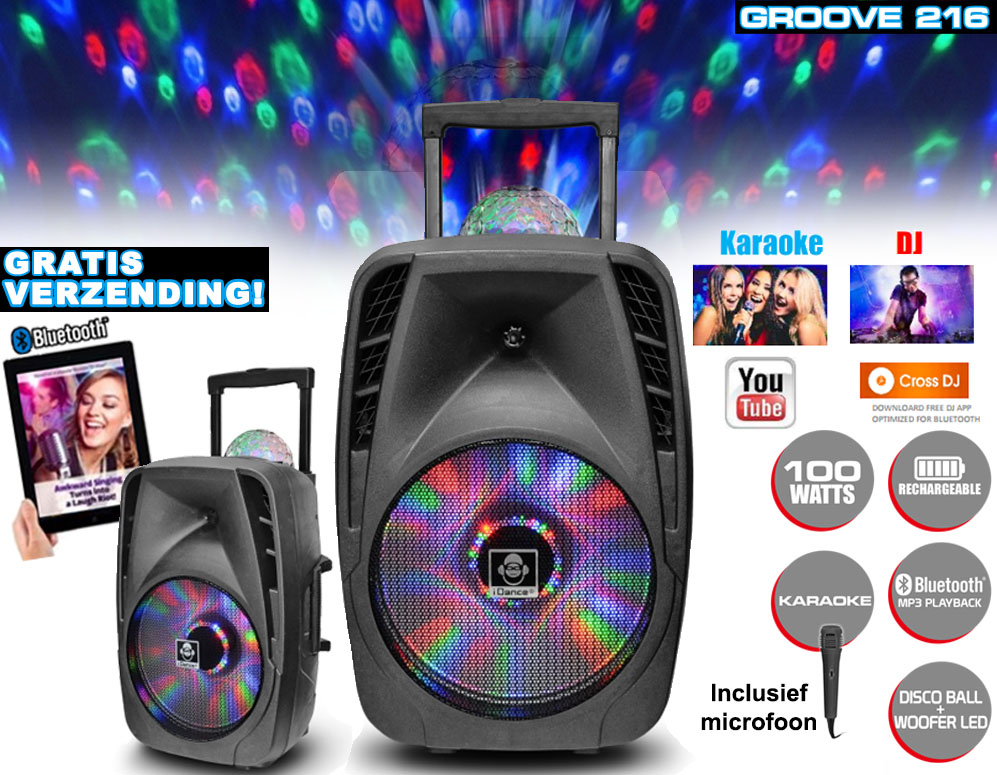 Click to Buy - Groove 216 Portable 100W Bluetooth Karaoke Machine