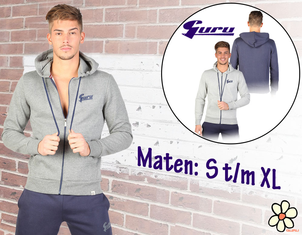 Click to Buy - Guru Heren Fleece Vest met Capuchon - 3 Kleuren