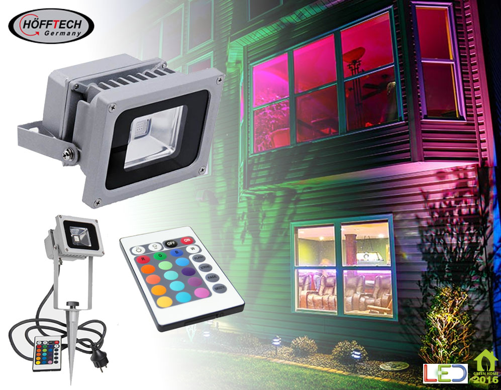 Click to Buy - Hofftech 10 Watt RGB LED Flood Light
