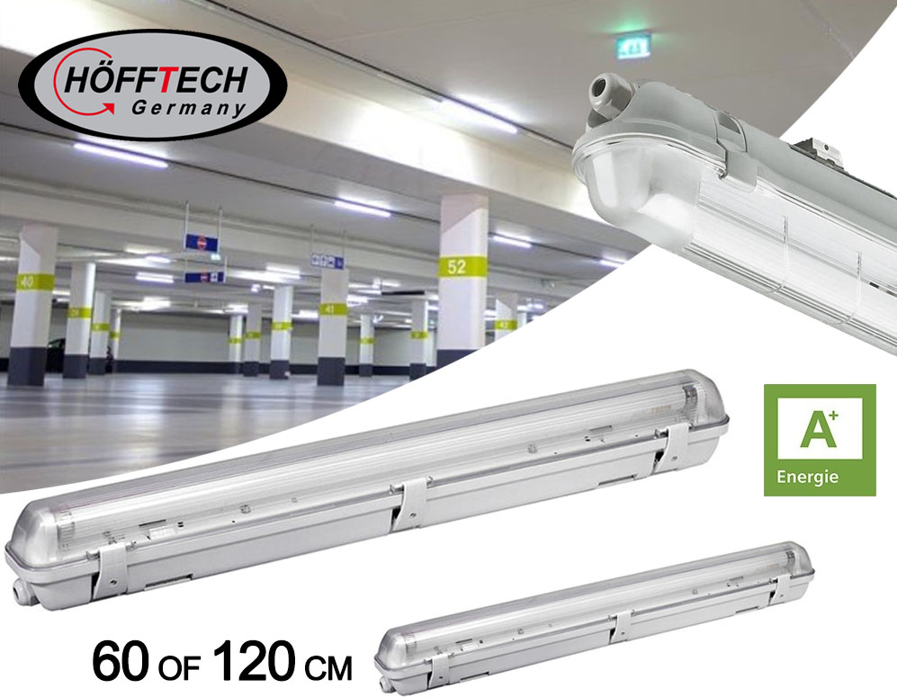 Click to Buy - Hofftech LED TL-Lamp met Armatuur - 60 of 120 cm