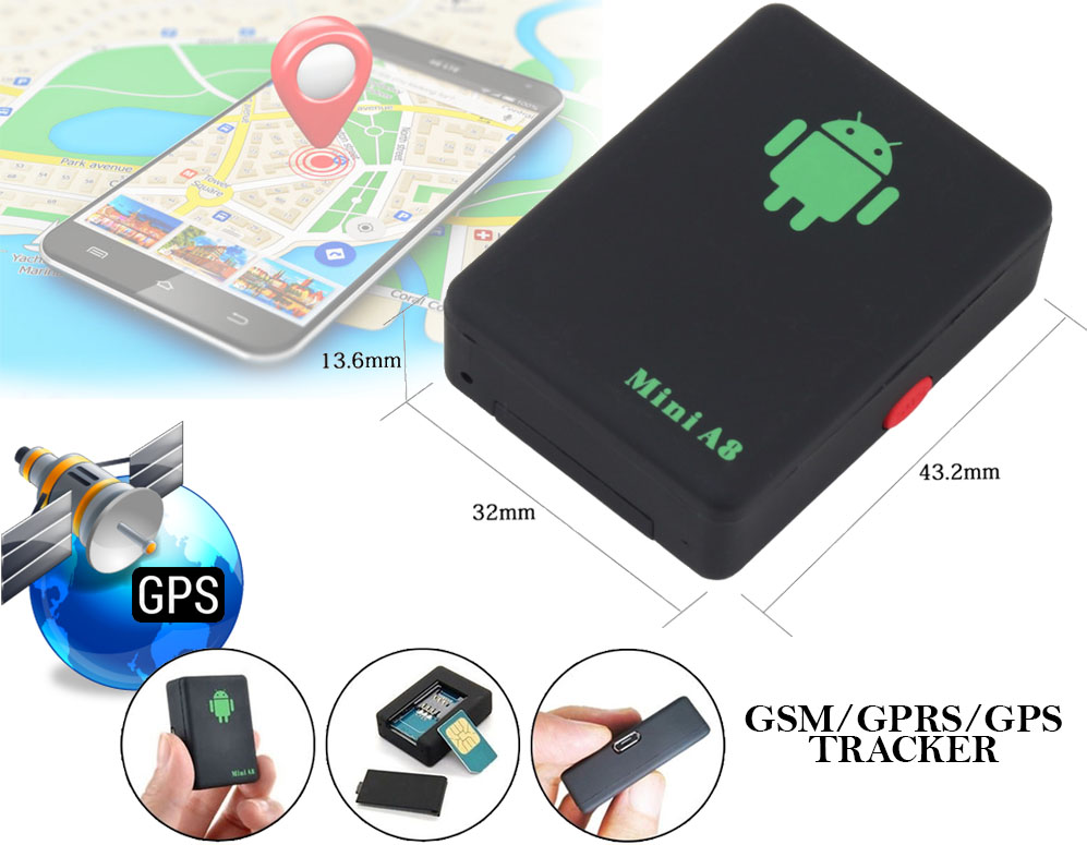 Click to Buy - Mini A8 GSM-GPS-GPRS Tracker
