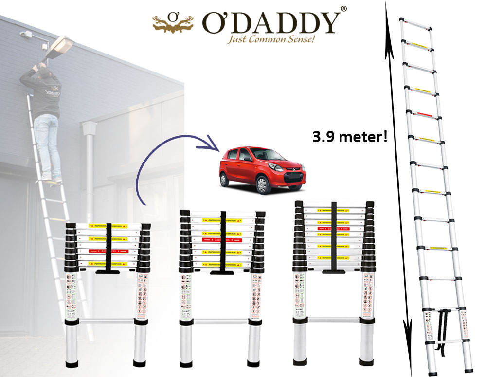 Click to Buy - O'DADDY Telescoop Ladder in 3 maten