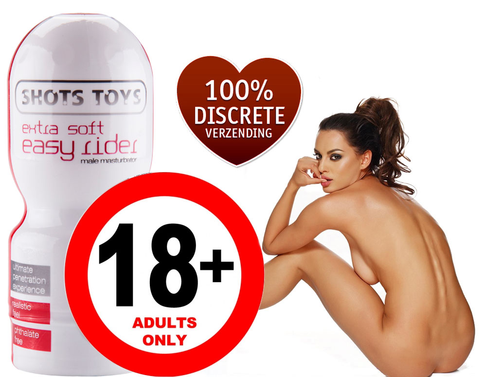 Click to Buy - Shots Toys Easy Rider Extra Soft Masturbator (Voor de Man!)