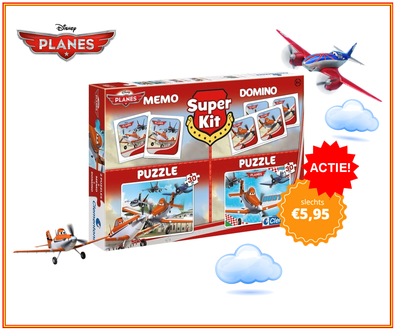 Dagknaller - Clementoni Disney Planes Super Kit 4 In 1