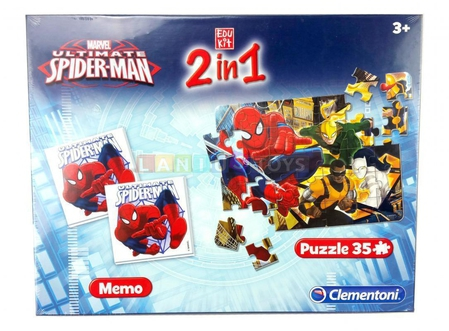 Dagknaller - Clementoni Puzzel 2 In 1 Marvel Spiderman