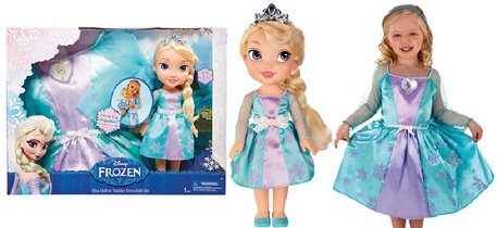 Dagknaller - Disney Frozen Elsa Pop Verkleed Set