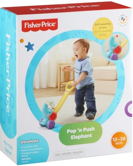 Dagknaller - Fisher-Price Duw &Amp; Rij Olifant - Looptrainer