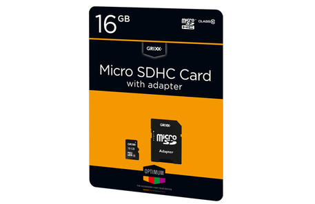 Dagknaller - Grixx Micro Sdhc Card 16Gb Class 10 Incl. Adapter