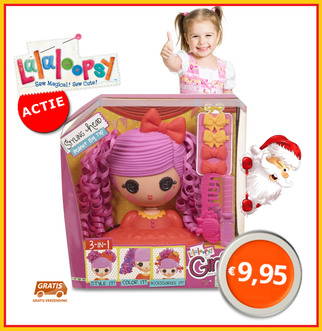 Dagknaller - Lalaloopsy Girls Doll Styling Head - Peanut Big Top