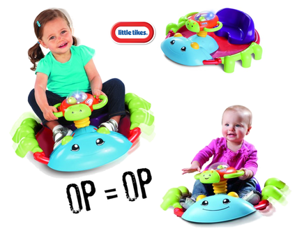"Dagknaller - Little Tikes Rock'n Spin Bug €"" Speelstoel"